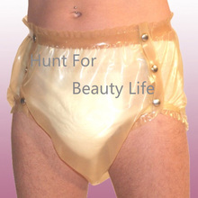 Latex Shorts w snaps Fetish Exotic Pants Buttons baby lugged pants