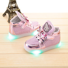 2016 Kids Light Up Shoes Baby Girl Shoes Chaussure Lumineuse Enfant Meisjes Schoenen Newborn Light Up Shoes Children's Sneakers