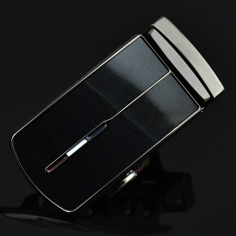 Men's Belt Head Buckle Leisure Belt Head Business Accessories Automatic Buckle Width Luxury Fashion Holographic Belts LY125-1183