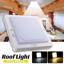 12 V 24 V 10 W Светодиодный свет купола автомобиля потолочный светильник для помещений молочно-Крышка корпуса 48 Светодиодный S крыши лампы для Camper фургон