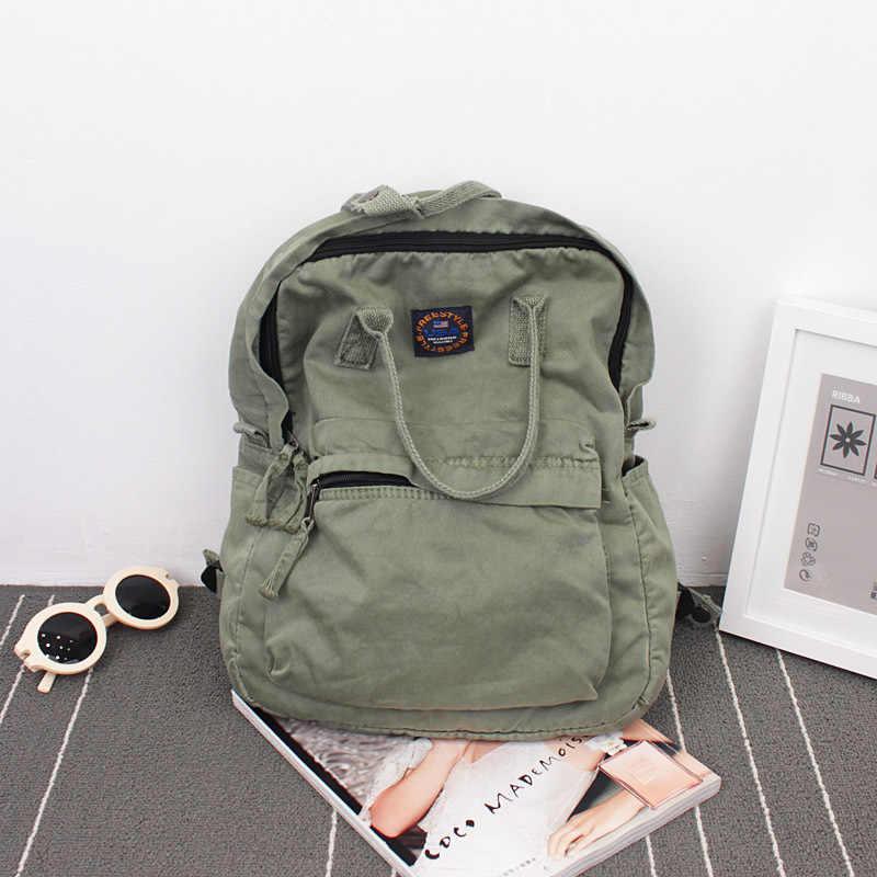 2018 уличный художественный холст рюкзак минималистичный ретро рюкзак дикая Досуг Корейская школьная сумка