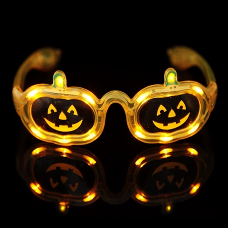 Flashing Sunglass LED Light Glasses for Kids Christmas Birthday Party Halloween Glow Pumpkin Flaring Glasses Masquerade ...