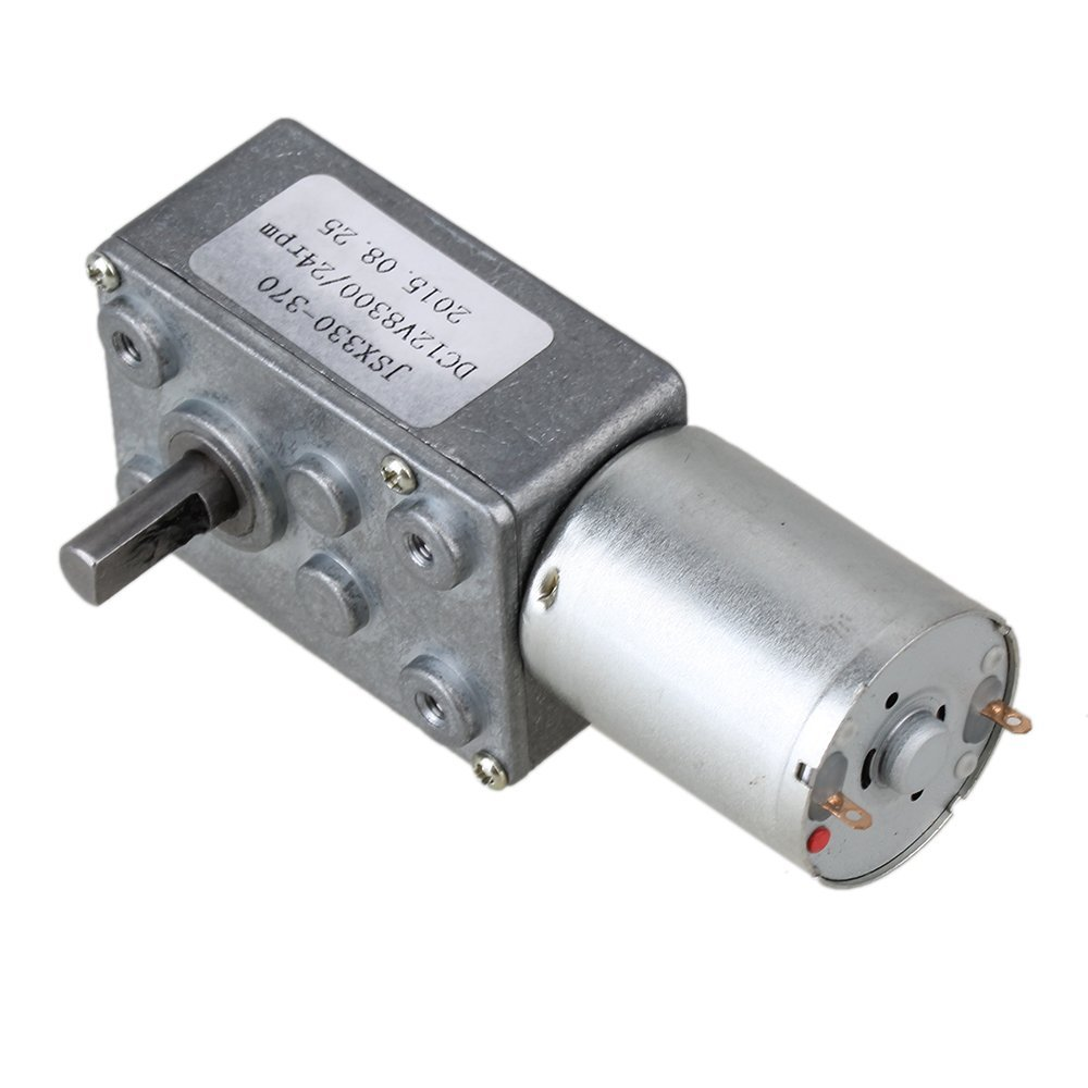 High Torque Turbo Worm Right Angle Geared Motor DC Motor GW370 12V 24rpm