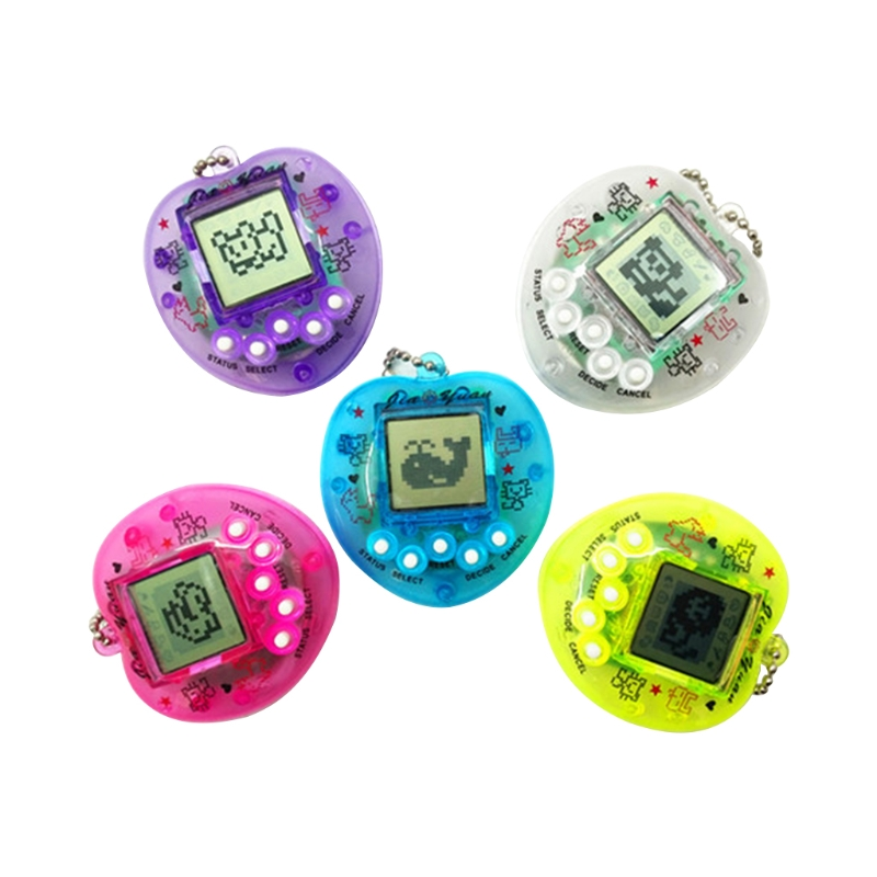 Cute Heart Shape LCD Virtual Digital Pet Electronic Game Machine With Keychain