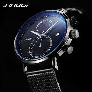Image 3 - SINOBI 2020 New Multifunction Men Watch Fashion DIY Luminous Quartz Watch For Men Male Casual Sport Chronograph Stop Watch Clock