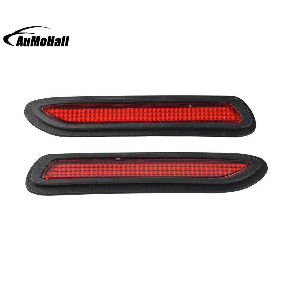 Universal Car  Styling  Car Rear Bumper Red Led Fog Brake Light Lamp Warning Lights