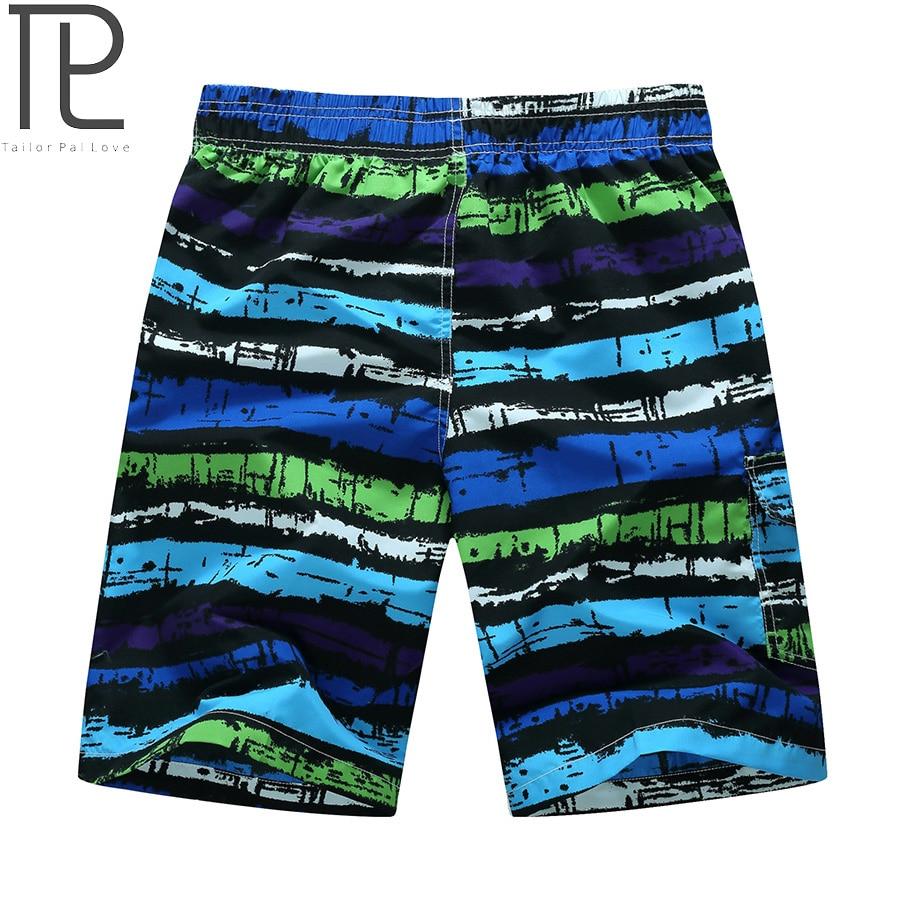 Tailor Pal Kärlek Mens Beach Shorts Casual Striped Print Män Snabb - Herrkläder - Foto 3