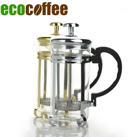 2017 Real New Arrival Diy Stocked Eco-friendly Fda Lfgb French Presses Eco Coffee French Press Slivery /gold Plunger Makers