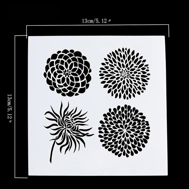Flower DIY Art Stencil