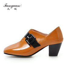 Fanyuan Autumn Slip-On High heels Spring Belt buckle decoration Shoes Classics Women Casual Square Toe Ladies Pumps