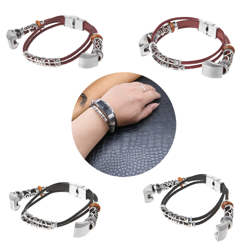 Replacement Leather Strap Bracelet For Fitbit Alta Fitbit Alta HR Watch Band