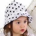Nova Moda Bom QualityChildren Meninas Caps Algodão Bucket Chapéus de Sol da Primavera Verão Lacing Chapéu Bebê Crianças Cap Local