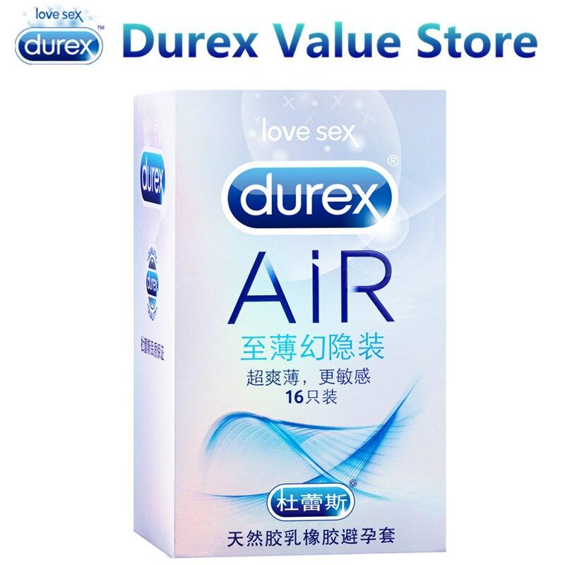Durex aire condones Invisible Ultra delgado lubricado condón de pene productos eróticos juguete sexual íntimo para hombres sexo tienda de productos