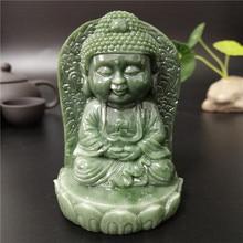 Decorative Sculpture Figurines Statue Monk Meditation Buddha Tathagata Jade-Stone Home-Dcor