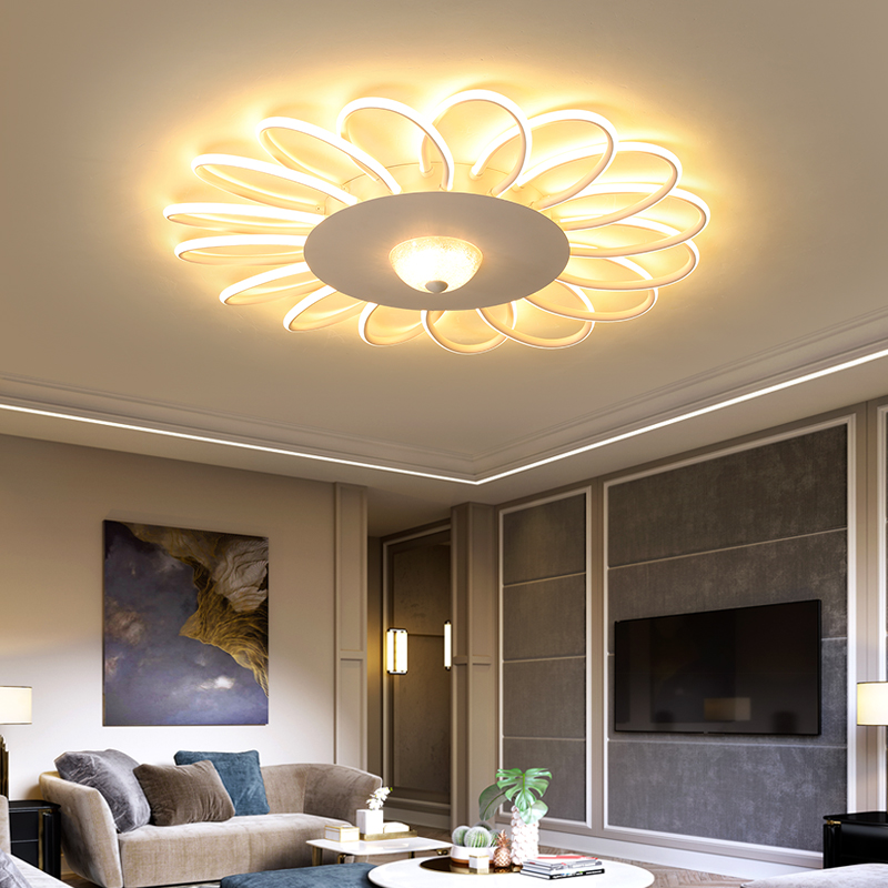 Sunflower Modern LED Ceiling chandelier Lighting For Living Room Bedroom Home Led Chandelier Lamp Fixture lustre rosenberg 7689 b