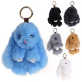 14cm Rabbit Hare Bunny Keychain Faux Rabbit Fur Key Chain Womens Bag Charms or Car Pendant Keychain