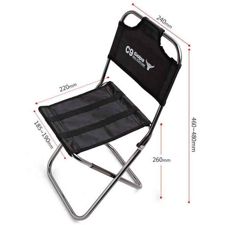 Image 4 - Light Outdoor Fishing Chair by Strong Aluminum Alloy Nylon Camouflage Folding Small Size Chair Camping Hiking Chair Seat Stool-in Fishing Chairs from Sports & Entertainment