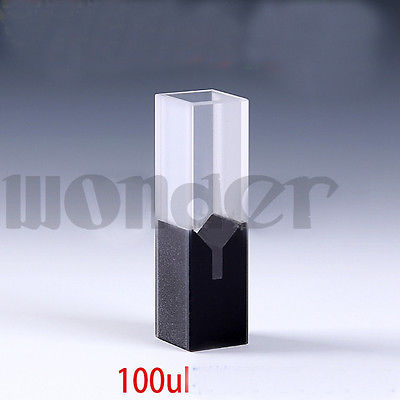 100ul 10mm Path Length Sub-Micro JGS1 Quartz Cell With Black Walls And Lid