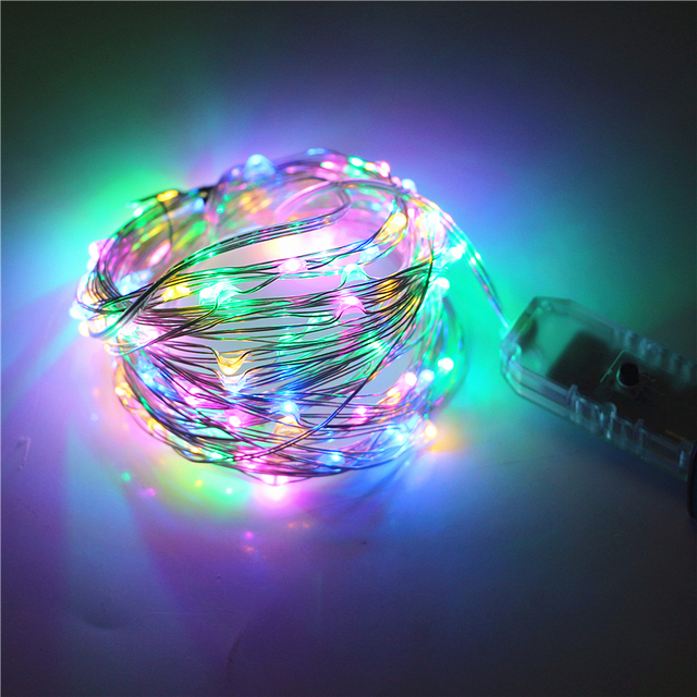 8 Modes Changeable 10M 100LED 5V USB LED String Silver Wire Fairy ...