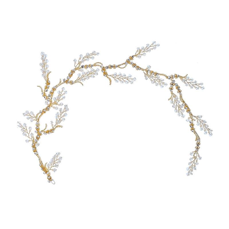 Delicate Crystal Bridal Hair Vine Handmade Rhinestone Wedding Headpiece Hair Jewelry 2019 Prom Party Brides Accessories in Hair Jewelry from Jewelry Accessories
