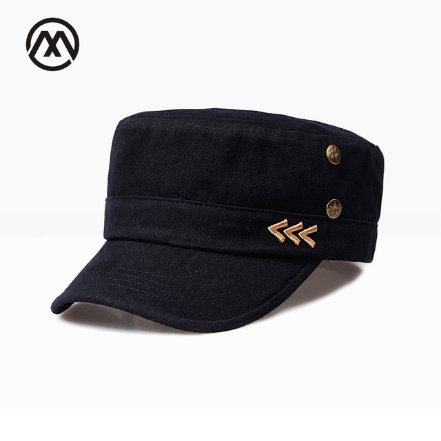 2cefd167492 Brand Military Hats Flat Top Cap Army Men Outdoor Sailor Army Men s Hats  Gorra Militar Embroidery