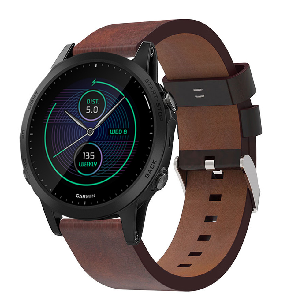 Genuine Leather Band For Garmin Forerunner 945 935 Smart Watch Replacement Bracelet Strap Watchband For Garmin Quatix 5 Sapphire