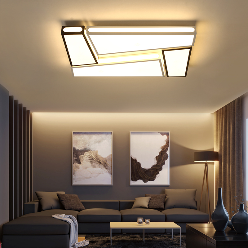 Creative simplicity modern Ceiling Lights black and white iron led ceiling lamp for living room bedroom lamparas de techoCreative simplicity modern Ceiling Lights black and white iron led ceiling lamp for living room bedroom lamparas de techo