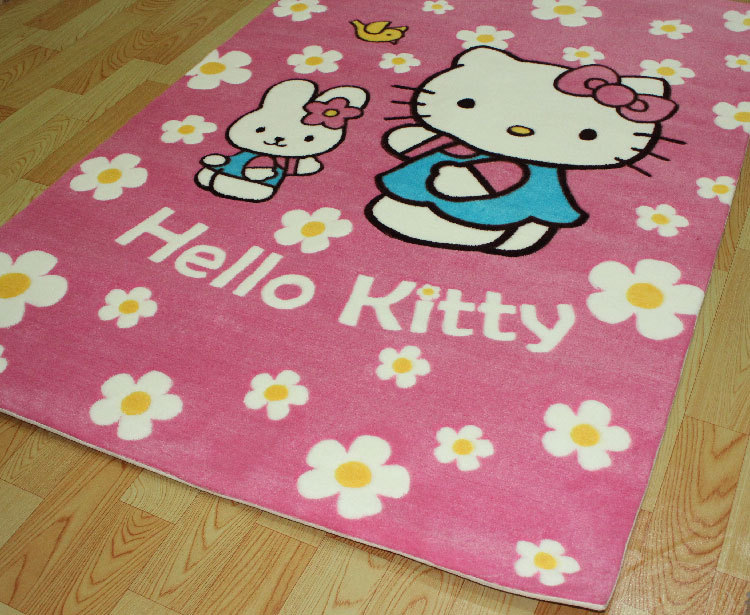 Exceptional ... Free Shipping Hello Kitty Acrylic Room Carpet Cartoon Children Area Rug  (Extra Large)