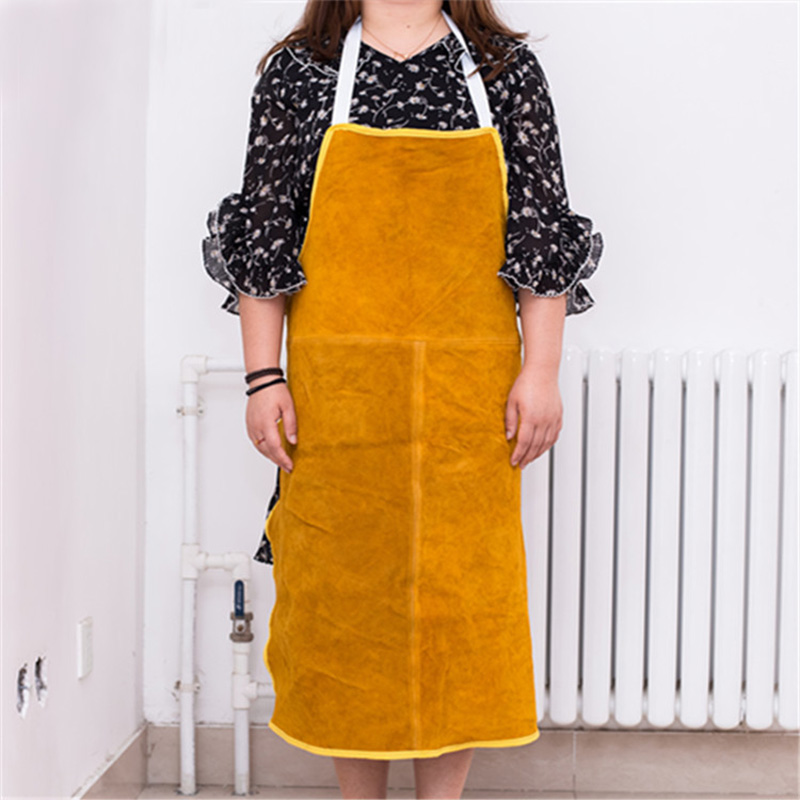 1PC Safurance Welders Welding Apron Cowskin Leather Heat Insulation Protection Blacksmith Workwear Protective Clothing image
