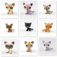 9 Types Lovely Genuine Pet Collection Action Figure Original LPS Many Pet Shop Cats Kids Gifts