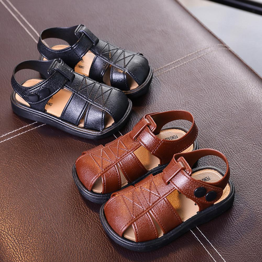 Casual Toddler Kids Leather Shoes Baby Boys Closed Toe Summer Beach Sandals New