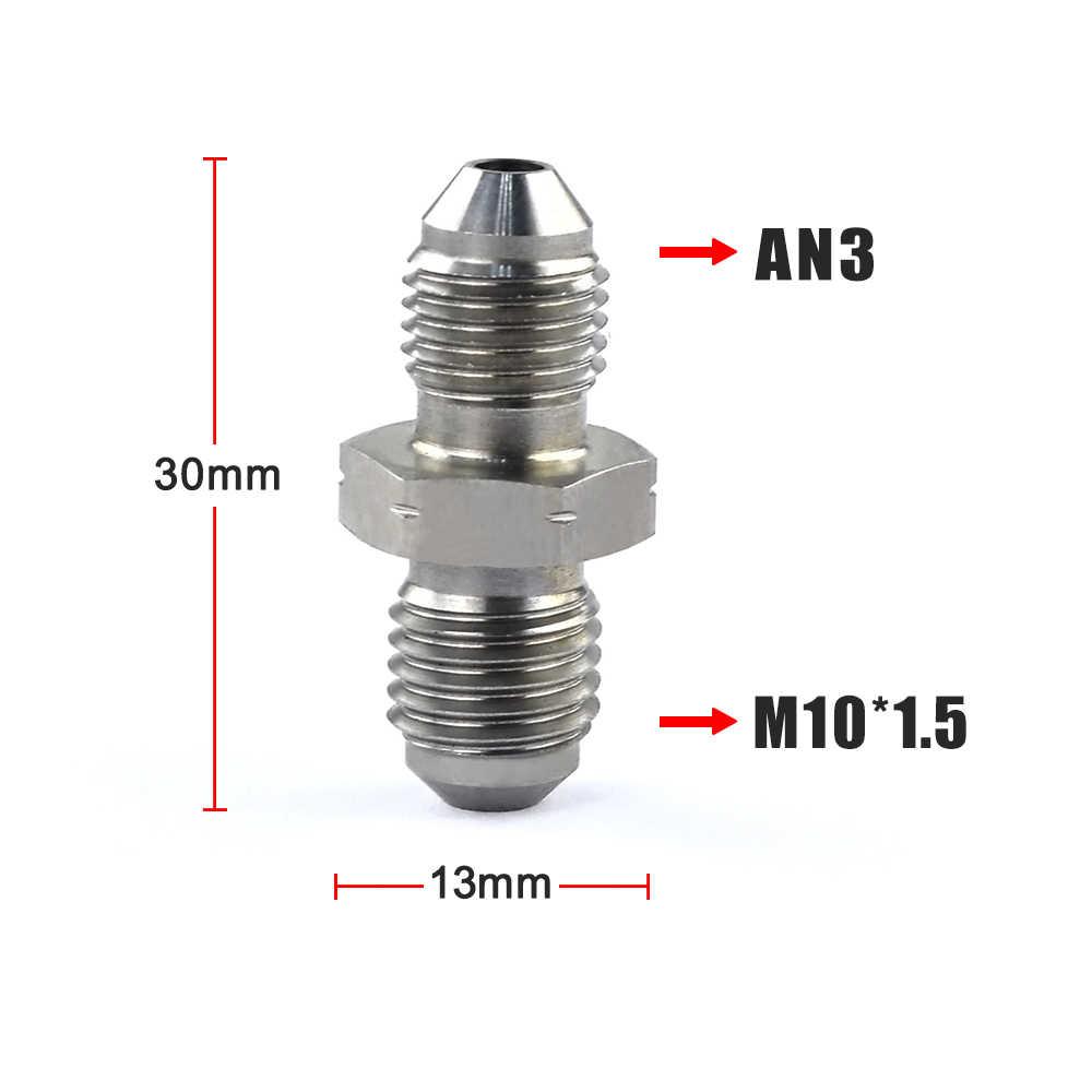 Hypertune - AN3 ذكر 3/8x24 UNF إلى M10x1.25 / M10x1.5 / M10x1.0 ذكر فقاعة مضيئة الفولاذ المقاوم للصدأ تركيبات الفرامل محول