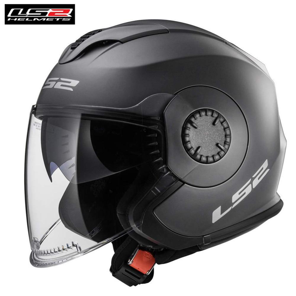 LS2 Open Face Motorcycle Helmet Scooter Casco Casque Capacete Moto Jet Helmets Helm For Motorbike OF570