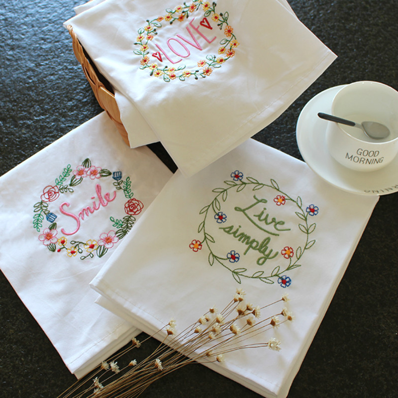 embroidered towel blackjack cloth table napkins upscale home cloth napkins wedding home kitchen towel 45