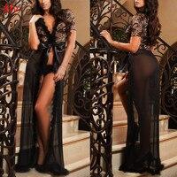 KLV Women Sexy Lingerie Hot Erotic Lace Mini Dress Underwear Sleepwear Babydoll G String