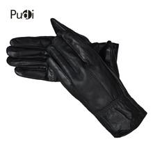 PUDI GL818 męskie rękawiczki z prawdziwej skóry brand new prawdziwe owce skórzane moda zimowe ciepłe rękawiczki tanie tanio Poliester Nadgarstek Stałe Dla dorosłych