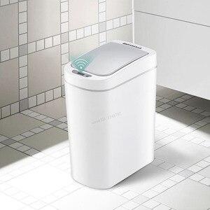 Image 4 - Youpin NINESTARS Smart poubelle capteur de mouvement Auto étanchéité LED Induction couverture poubelle 7L cendrier bacs Ipx3 étanche