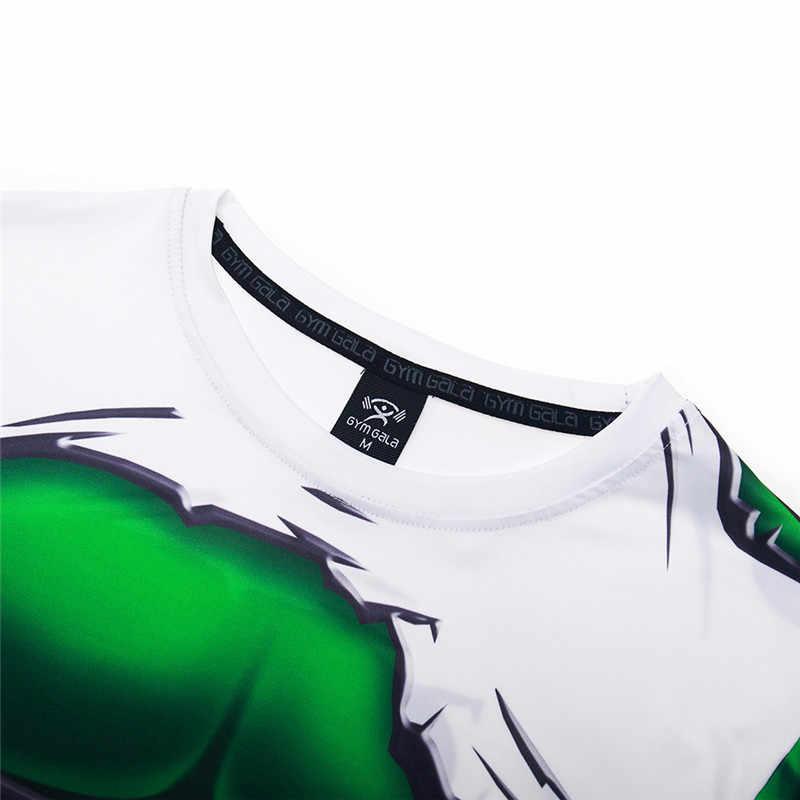 Tshirts 3D Impresso Topos Maravilha Hulk Traje Cosplay Camisa De Compressão de Fitness Musculação Camiseta Homens Elástico Apertado de Alta Qualidade