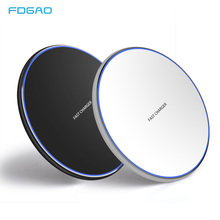 FDGAO 15W Fast Qi Wireless Charger Pad for iPhone X XS Max XR 8 Plus Samsung Galaxy Note 9 S9 S8 10W Charging Dock