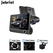 "Jabriel Full HD 1080P 3 Lens Car Dvr 4"" dash cam inside front rearview three camera 3 in 1 driving video recorder Night vision"