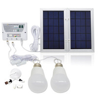 Solar Light Mobile Suit Photovoltaic Power Generation Camping Tent Eemergency Charging Mobile Phone+2LED Bulbs+USB Cable