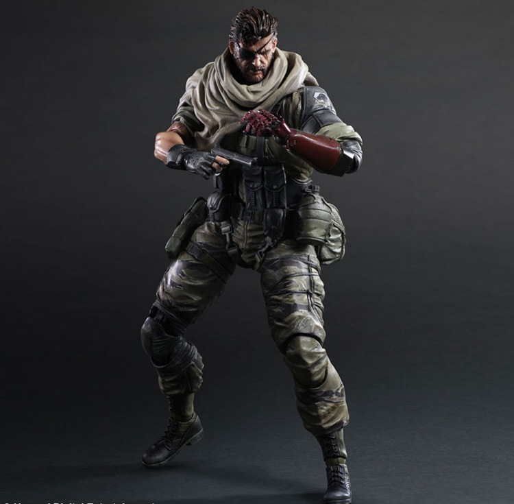 Snake Metal Gear Solid GROUND ZEROES Play Arts Kai Snake Solidus  PA 27cm PVC Action Figure Doll Toys Kids Gift Brinquedos