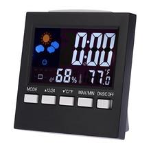 Термометр-гигрометр погоды повтора прогноз метеостанции функция жк-цифровой будильник календарь красочный дисплей