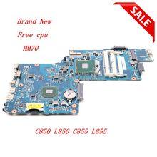 NOKOTION Thương Hiệu Mới H000052730 Laptop cho Toshiba Vệ Tinh C850 C855 L850 L855 C850 1HE C850 1CW HM70 giá rẻ CPU tác phẩm