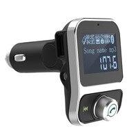 Bluetooth Car Kit Handsfree Bluetooth FM Transmitter Car MP3 Player 3.5mm Audio Aux-in 1.44