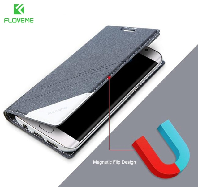 FLOVEME Original Flip Leather Case For Samsung Galaxy s8 s8 Plus Case Wallet Stand Phone Pouch Bag Cover For Galaxy S8 S8 Plus