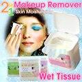 Cores bb limpeza profunda removedor de maquiagem algodão tecido molhado olho colágeno lábio apple demaquilante hidratante wipe macio 100 pçs/caixa