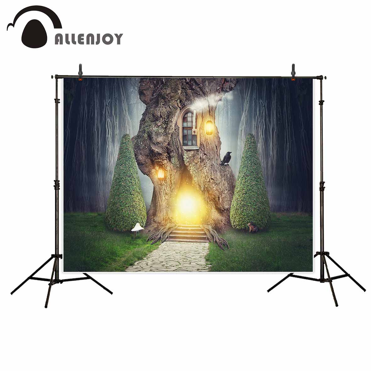 Allenjoy photographic background wonderland tree house glitter squirrel backdrop photo prop photobooth photocall professional allenjoy background for photo studio baby shower monthly growth backdrop photobooth photocall printed photographic accessories