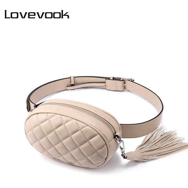 LOVEVOOK fanny pack women waist packs belt bag female shoulder crossbody bag school bum bag waist mini purse for women 2019 PU