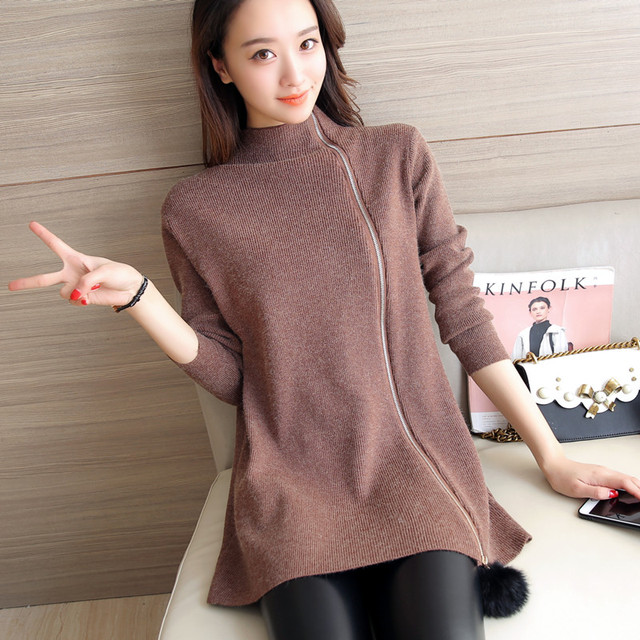 4382-2016 nuevo invierno vestido de suéter 70